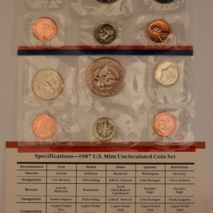 iCoins50.com-1987 Mint Set