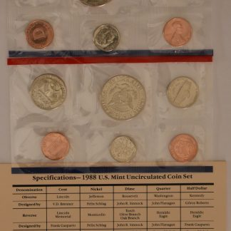 iCoins50.com 1988 Mint Set